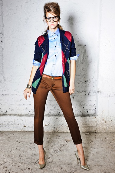Стиль одежды преппи - preppy Dsquared2 2012
