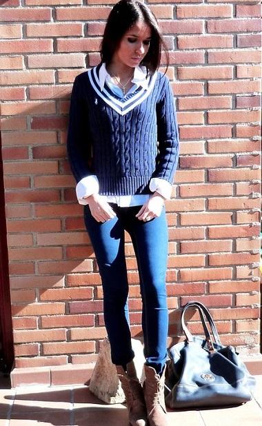 Preppy look, стиль одежды преппи лук - фото