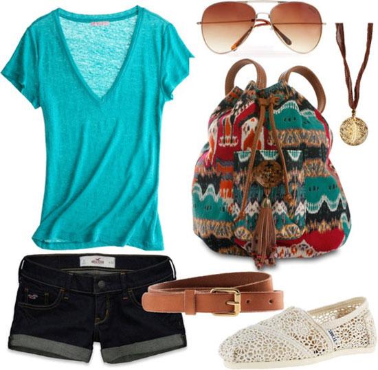 Летние образы для девушек фото, сеты одежды