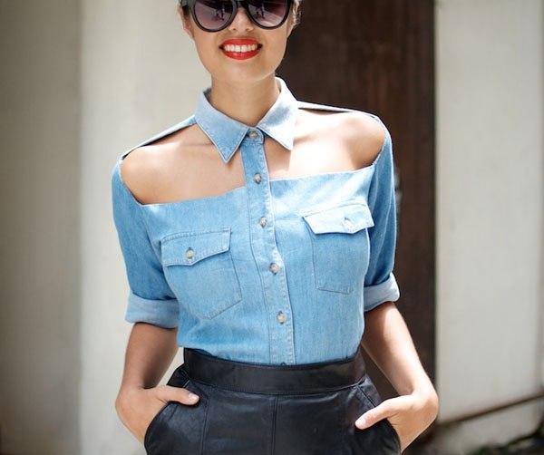 Переделка женской рубашки