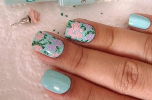 цветы на ногтях фото