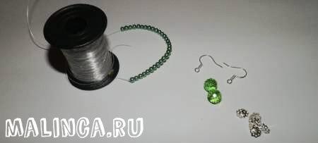 Простые сережки своими руками