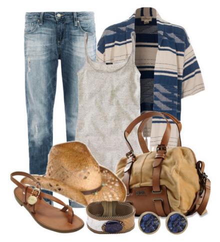 Модные луки с джинами