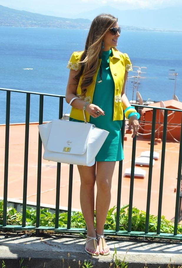 Модный зеленый цвет в одежде 2013