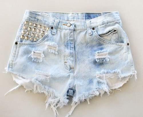 Рваные джинсовые шорты своими руками фото
