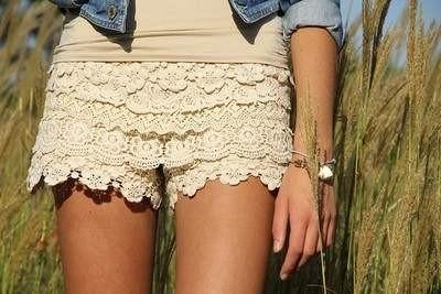шорты с кружевом своими руками