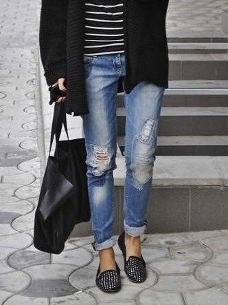 С чем носить джинсы бойфренды - boyfriend jeans фото