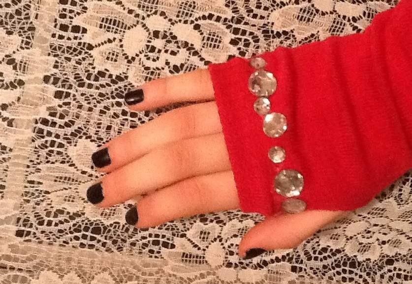 Как украсить перчатки своим руками камнями
