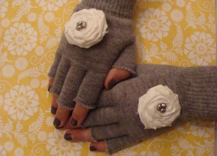 Как украсить перчатки своим руками фото