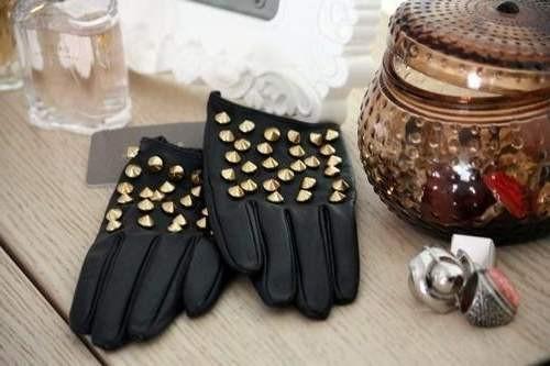 Как украсить перчатки своим руками шипами