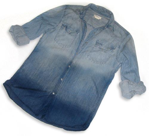 как покрасить рубашку из джинсы фото