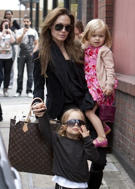 Angelina Jolie In London With The Kids