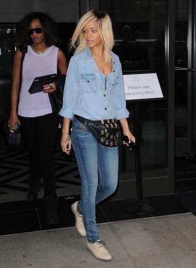 стиль рианны 2012 фото джинсовая рубашка
