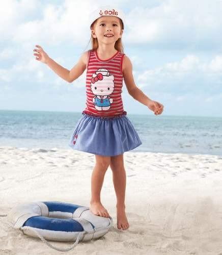 Морской стиль в детской одежде - модные девочки фото