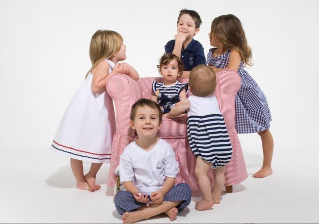 Морской стиль в детской одежде (фото)
