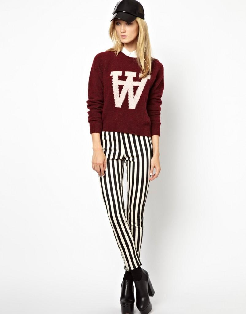 Вишневый цвет в одежде фото - бордовый свитер