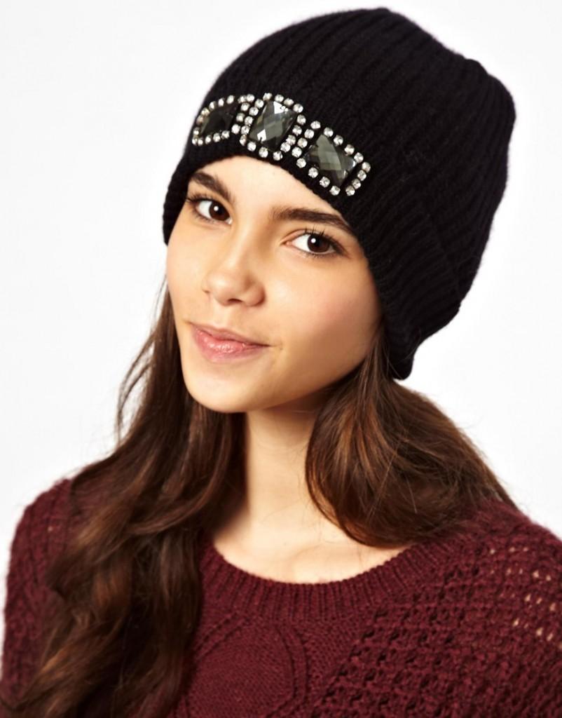 Как украсить вязаную шапку своими руками фото