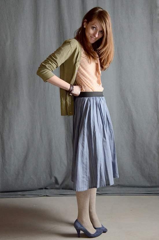 Выкройка простой юбки на резинке