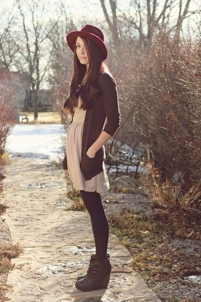 nude-love-dress-black-romwe-wedges_400