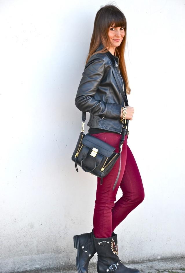бордовый вишневый цвет в одежде фото