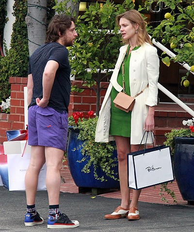 Actress and Top model Natalia Vodianova spotted having lunch and shopping with her new man in LA