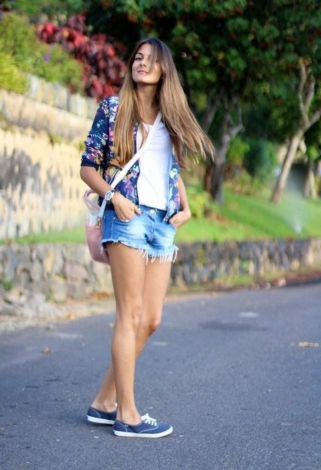 С чем носить кеды летом фото