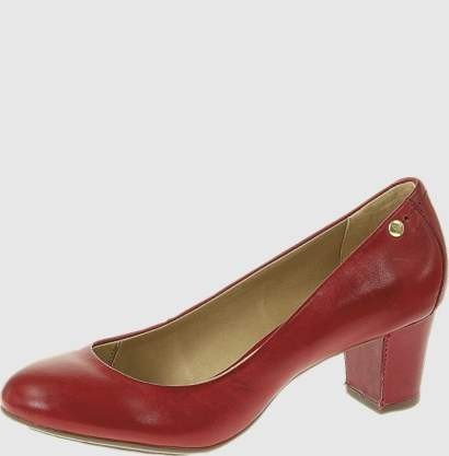 Бордовые туфли лодочки на низком каблуке
