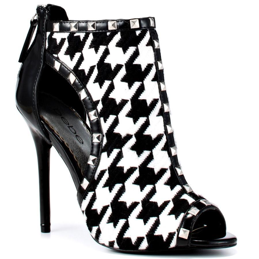 Обувь туфли с принтом гусиная лапка фото