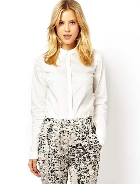 образ с белой блузкой фото