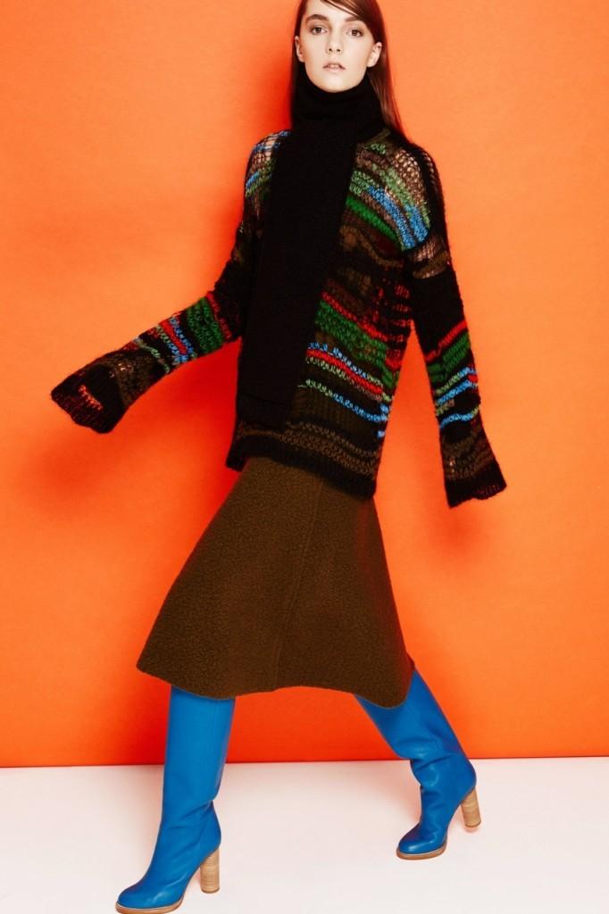 Как носить юбку со свитером