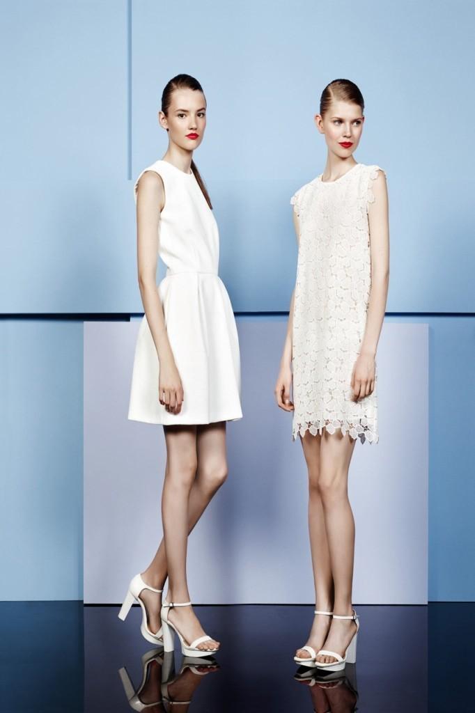 Cacharel 2014 светло белые платья