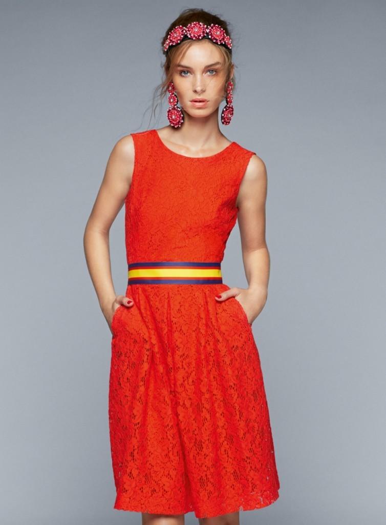 Красное платье - сочетания