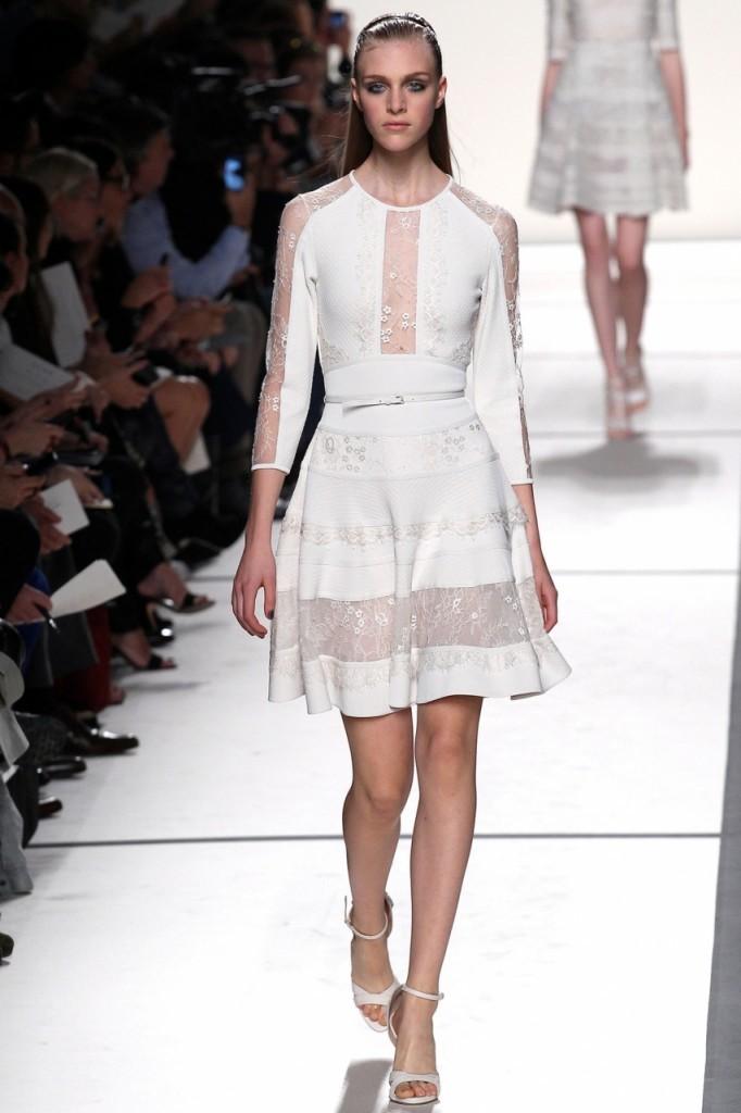 Белое коктейльное платье Elie Saab 2014