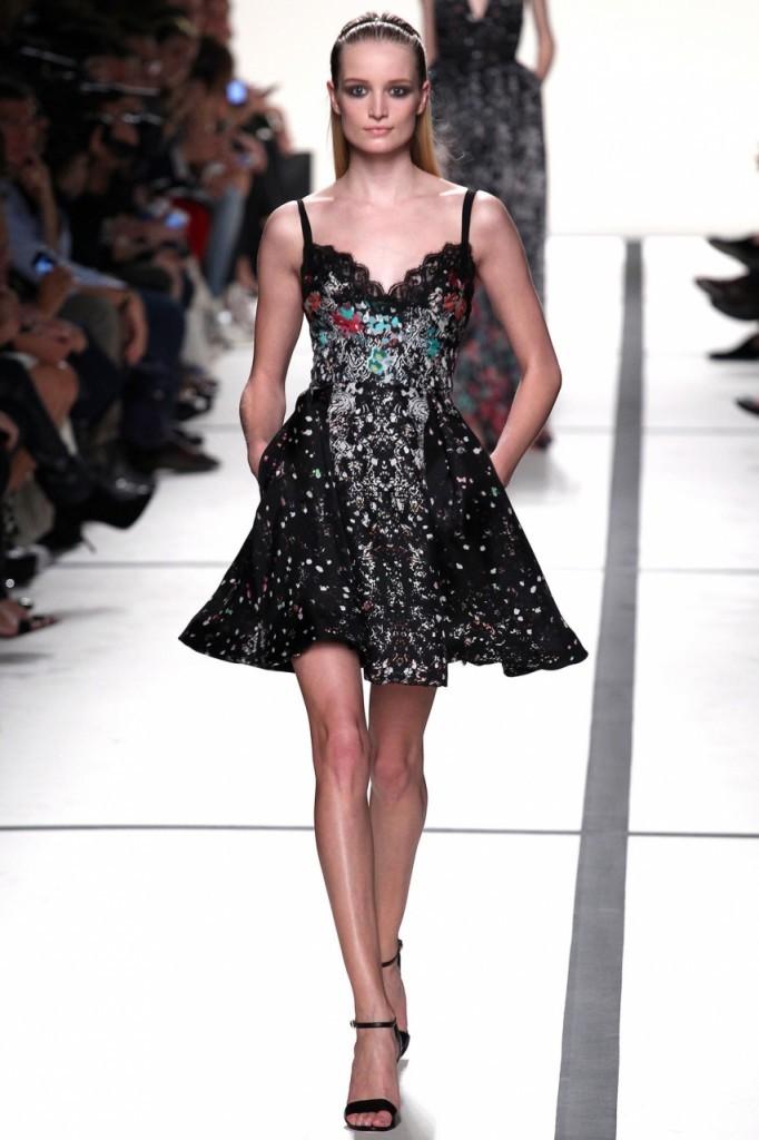 Elie Saab черное платье 2014