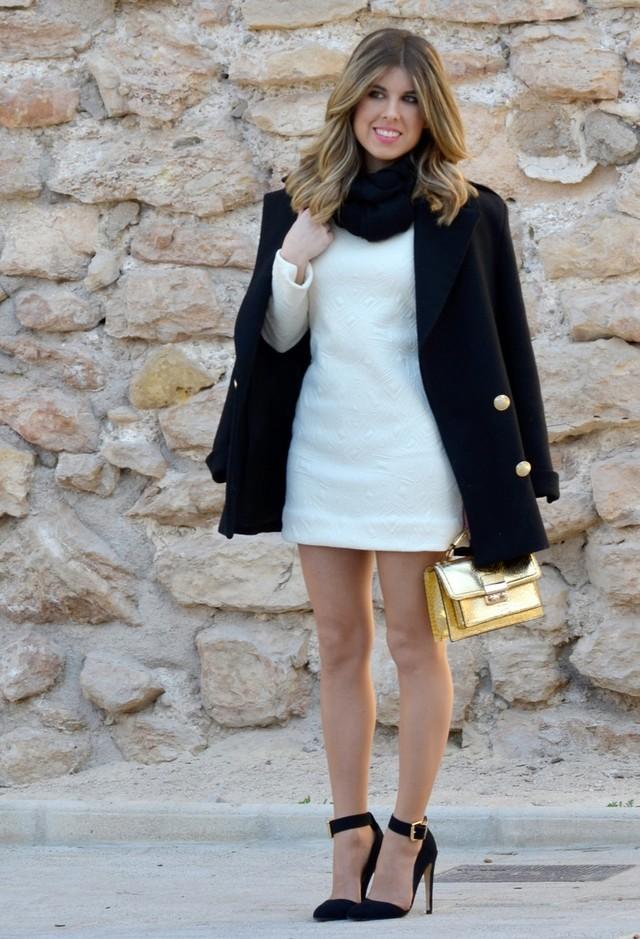 фото сочетаний с белым платьем