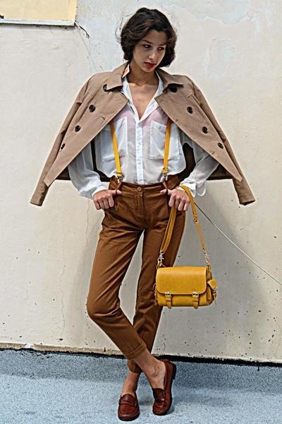 mustard-lulus-bag-tan-stradivarius-jacket-brown-pants-burnt-orange-loafers_400 (1)