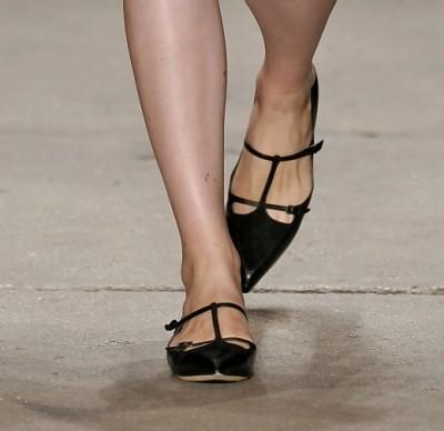 Suno черные балетки с заостренным носком
