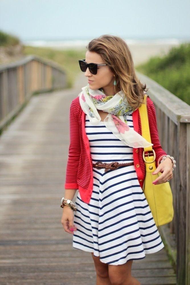 как носить шарф летом