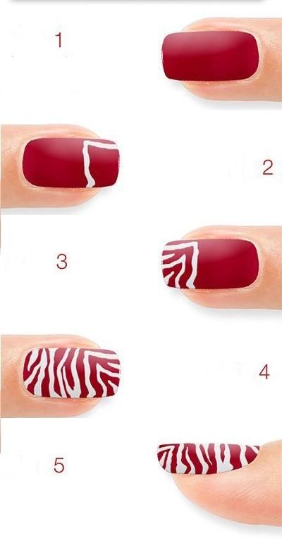 как нарисовать тигриные ногти своими руками