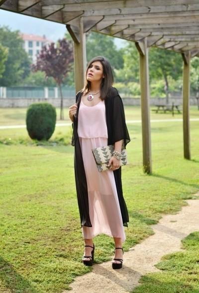 длинное светло розовое платье фото