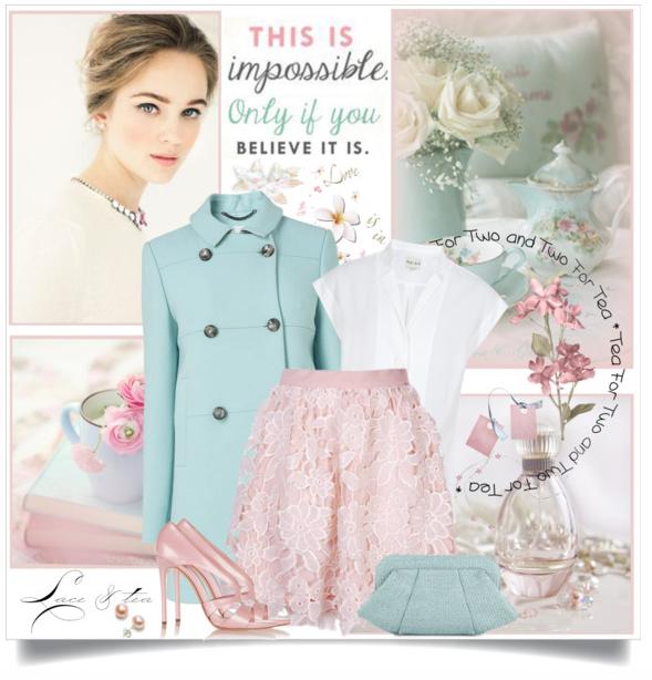 сеты одежды - пальто цвет тиффани