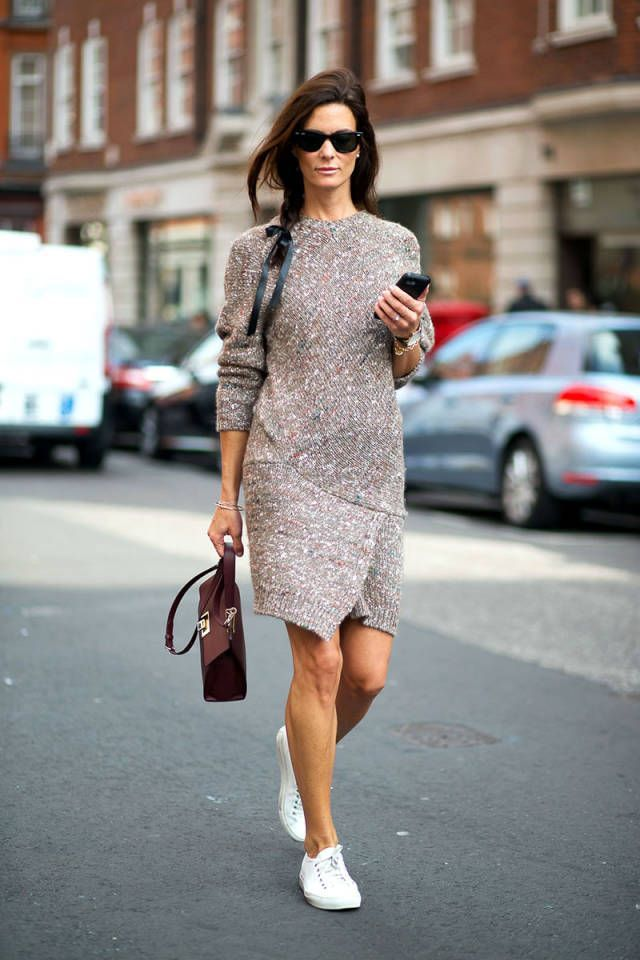 knitted-dress-and-sneakers