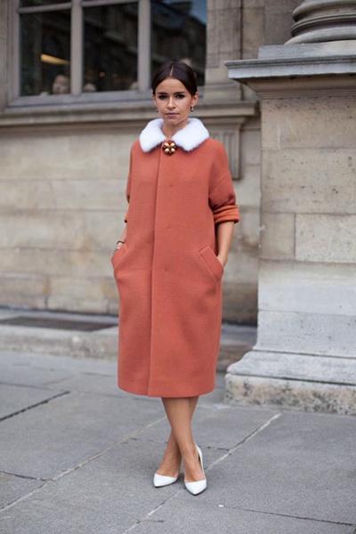 Как носить объемное пальто - Мирослава Думв
